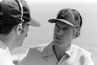 Rear Admiral Robert E  Kirksey, commander, Task Force 77